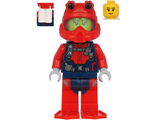 Scuba Diver - Female, Peach Lips Smile, Red Helmet, White Airtanks, Red Flippers, n/a (cty1179)