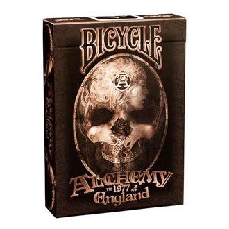 Bicycle Alchemy, карты, 1977 England, байсикл, покер, poker, дизайнерские, красивые, алхимия, череп