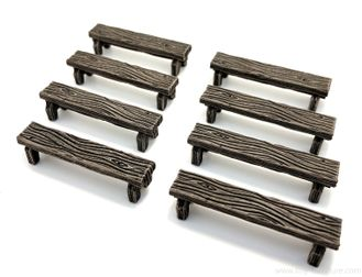 Wooden benches (painted)