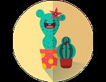 Получить или подарить КОМПАНИЮ СКАЗОЧНЫХ  ДЕТСКИХ КАКТУСОВ из волшебного Флауэрлэнда (праздничный предзаказ)