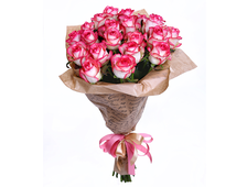 Розовый Фурор 21 роза