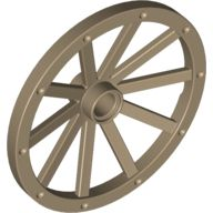 Wheel Wagon 43mm, Dark Tan (33211 / 6037586)