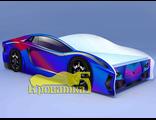 Кровать машина ЛАМБО фиолетовая