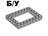 ! Б/У - Technic, Brick 6 x 8 Open Center, Light Bluish Gray (40345 / 4211848) - Б/У