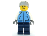 Snowboarder - Male, Medium Blue Jacket, Light Bluish Gray Sports Helmet, n/a (cty1087)