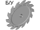 ! Б/У - Technic, Circular Saw Blade 9 x 9 with Pin Hole and Teeth in Same Direction, Light Bluish Gray (61403 / 4521897) - Б/У
