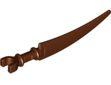 Minifigure, Weapon Sword, Scythe Blade with Clip Pommel, Reddish Brown (59229 / 6224780)