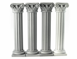 Four pilasters