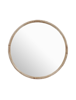 Зеркало круглое MIRROR ODINE NATURAL D50CM FIR WOOD+MIRRORарт.31869