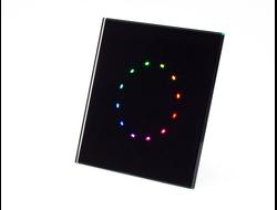 Q600D SL - панель управления RGBW (Чёрная) , которая осуществляет цифровую связь по силовой линии (110V - 220V)