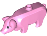 Pig with Black Eyes and White Pupils Pattern, Bright Pink (87621pb01 / 6308842)