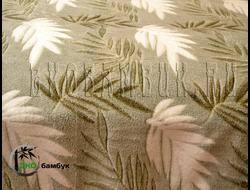 Плед из бамбука Листочки на зеленом 190х220