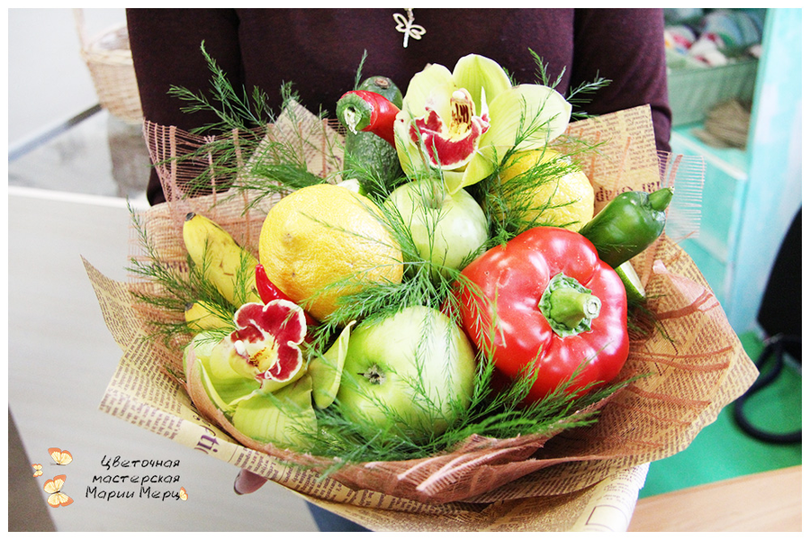 Подарок букет из овощей 99
