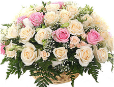Корзина 45 нежных роз