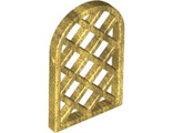 Window 1 x 2 x 2 2/3 Pane Lattice Diamond with Rounded Top, Pearl Gold (30046 / 4541895 / 6173106)