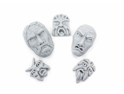 Strange stone faces (unpainted)