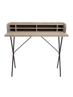 Письменный стол DESK INDUS GREY 100X50X91CM OLD PINE+IRON 29875