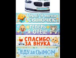 Наклейка на номер автомобиля (на выбор) 47х11см арт.1150