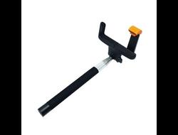 Монопод KJstar  Z07-7 с кнопкой фото на ручке (проводной) черный.