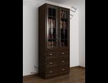 Книжный шкаф с ящиками для документов витраж ШкКн(2)№5