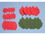 Пуансеттия из фоамирана, набор лепестков