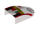 Windscreen 6 x 4 x 1 Curved with  Ferrari , Italian Flag and Black and Red Pattern, Trans-Black (18973pb02 / 6105913)