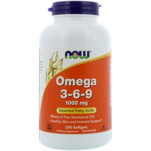 Omega 3-6-9 1000 мг. (250 капсул)NOW