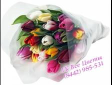 Яркий разноцветный Микс из 21 Тюльпана