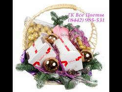 Корзины на Новый Год с конфетами