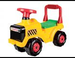 Каталка детская Трактор желтый