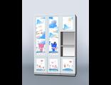 Детский шкаф милые мишки со створками