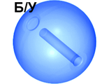 ! Б/У - Bionicle Zamor Sphere Ball, Trans-Dark Blue (54821 / 4297031) - Б/У