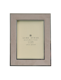 Фоторамка 17*22,5 PHOTO FRAME SUEDE BEIGE 17.5X22.5CM STEEL 30096
