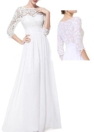 5dad254c2d0 Длинное свадебное платье легкое с кружевом и рукавами СВ-582-6
