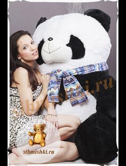 Большая панда Снежана (125 см)