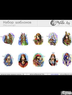 Набор шаблонов для производства сувенирной продукции