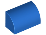 Slope, Curved 1 x 2 x 1, Blue (37352 / 6290532)