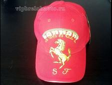 Бейсболка с логотипом авто FERRARI (красная)
