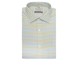 Рубашка HARVIE & HUDSON Blue and Olive Country Check Classic Fit Shirt