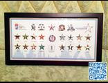 Набор значков ЧМ-2016 в деревянной рамке (тираж 100 шт)