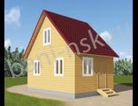 Проект дома из бруса 6*4 - Д2
