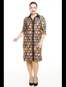Платье-рубашка 2835-PL. Размерный ряд: 48-70. ТМ Прима Линия