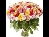 Букет цветов Розы Микс 101 шт.