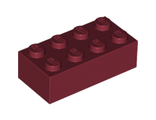 Brick 2 x 4, Dark Red (3001 / 4163803 / 4541369 / 6057588 / 6117418)