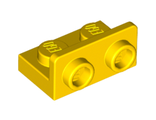 Bracket 1 x 2 - 1 x 2 Inverted, Yellow (99780 / 6057458)