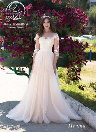 667c6aed358 Свадебное платье с рукавами