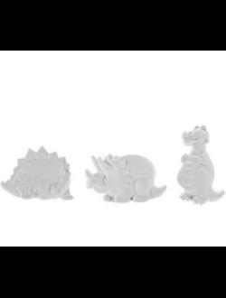 Фигура-раскраска Динозаврики набор 3 шт.