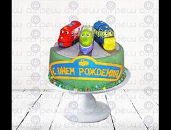 """Торт № 16 """"Паровозики из Чаггингтона"""" (Детские торты)"""