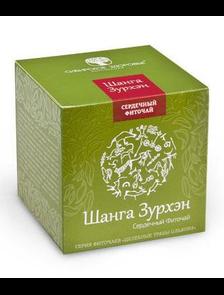 БАД Фиточай «Шанга Зурхэн» Сильное сердце зеленая упаковка  500027    30 фильтр-пакетов