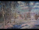 """Круглова Светлана. """"Март в Суздале"""", холст / масло,  50 х 70 см.,  2015 г."""